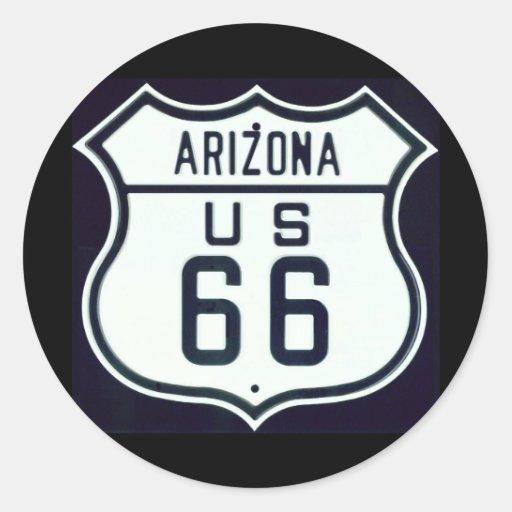 Itinéraire 66 Arizona Autocollant Rond