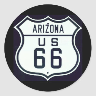 Itinéraire 66 Arizona Sticker Rond