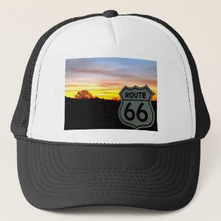 Itinéraire 66 au coucher du soleil casquette