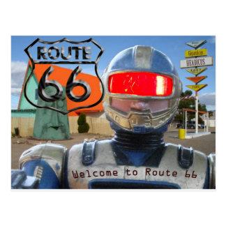 Itinéraire 66 de Giganticus de robot Carte Postale