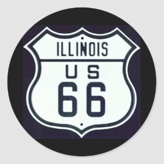 Itinéraire 66 l Illinois Autocollants