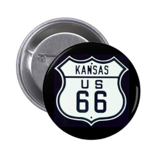 Itinéraire 66 le Kansas Badge Avec Épingle