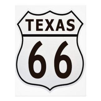 Itinéraire 66 le Texas Prospectus 21,6 Cm X 24,94 Cm