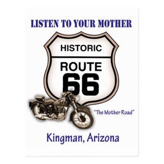 Itinéraire 66-Listen à votre mère Kingman Carte Postale