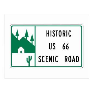 Itinéraire 66 - Route pittoresque des USA 66 Carte Postale