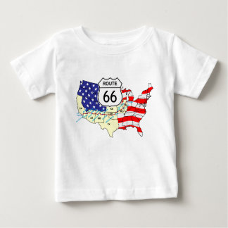 Itinéraire 66 t-shirt pour bébé