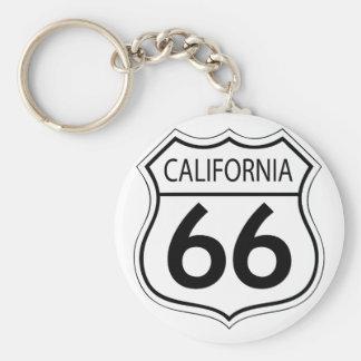 Itinéraire classique 66 porte-clé rond