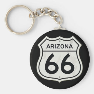Itinéraire historique 66 de l'Arizona USA Porte-clé Rond