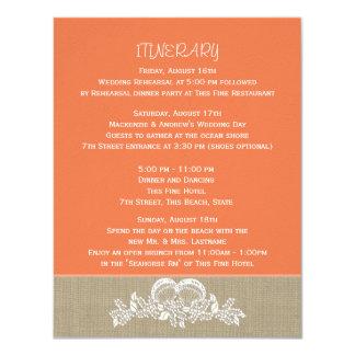 Itinéraire tropical de mariage de plage de invitations