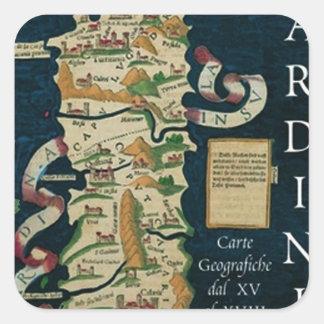 IV carte de cru de Sardegna Stickers Carrés