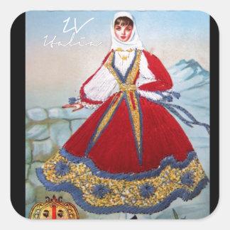 IV - Costume de SARDEGNA Sticker Carré