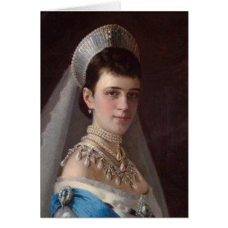 Ivan Kramskoy Portrait d impératrice MariaFiodor Cartes De Vœux