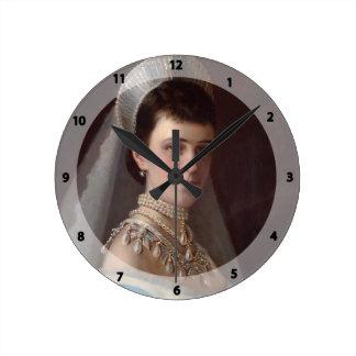 Ivan Kramskoy Portrait d impératrice MariaFiodor Horloge