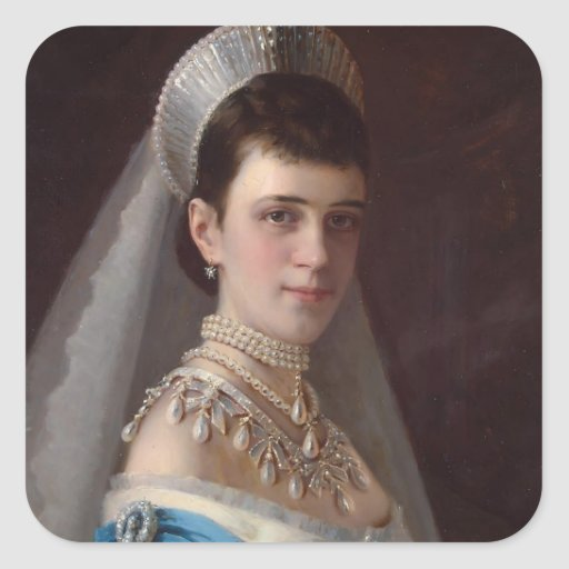 Ivan Kramskoy : Portrait d'impératrice MariaFiodor Autocollants