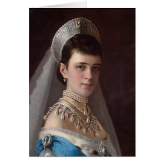 Ivan Kramskoy : Portrait d'impératrice MariaFiodor Carte De Vœux