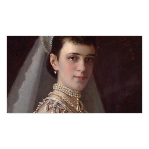 Ivan Kramskoy : Portrait d'impératrice MariaFiodor Modèles De Cartes De Visite