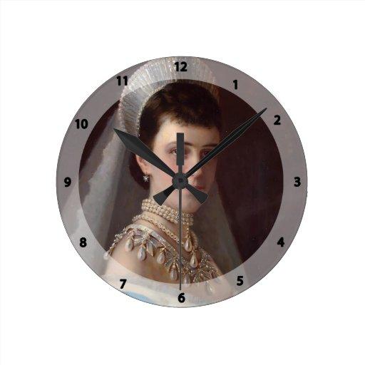 Ivan Kramskoy : Portrait d'impératrice MariaFiodor Horloge