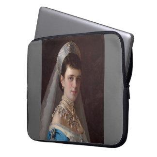 Ivan Kramskoy : Portrait d'impératrice MariaFiodor Housse Ordinateur Portable