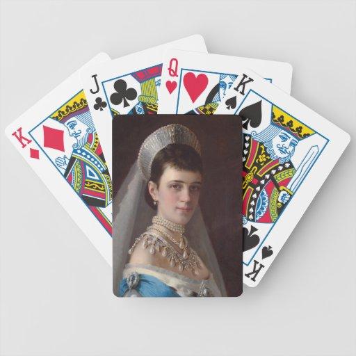 Ivan Kramskoy : Portrait d'impératrice MariaFiodor Jeu De 52 Cartes