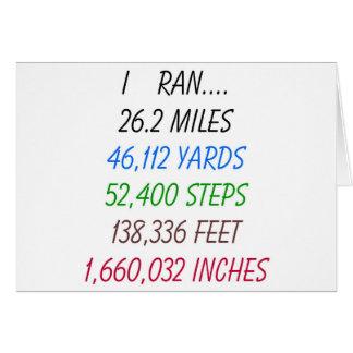 J ai couru 26 2 milles cartes