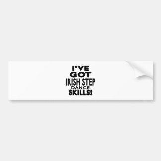 J ai des qualifications de Stepdance d Irlandais Autocollants Pour Voiture