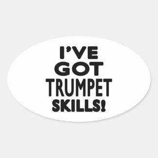 J ai des qualifications de trompette sticker ovale