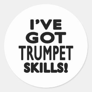 J ai des qualifications de trompette autocollants ronds