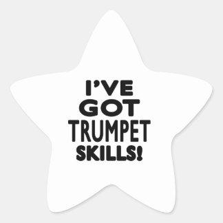 J ai des qualifications de trompette sticker en étoile