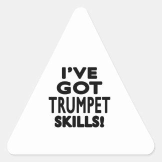 J ai des qualifications de trompette autocollant en triangle