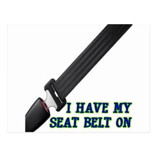 J ai ma ceinture de sécurité Dessus Cartes Postales