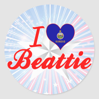 J aime Beattie le Kansas Autocollants Ronds