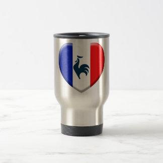 J aime coq drapeau France Tasse