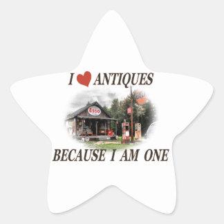 J aime des antiquités parce que j ai une ans stickers en étoile