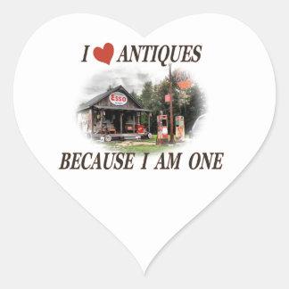 J aime des antiquités parce que j ai une ans autocollant en cœur