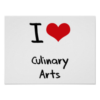 J aime des arts culinaires affiche