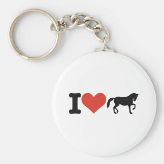 J aime des chevaux porte-clefs