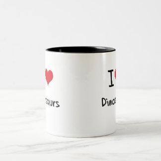 J aime des dinosaures mugs à café