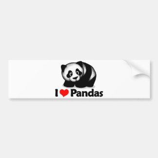 J aime des pandas adhésif pour voiture