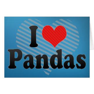 J aime des pandas carte de vœux