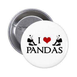 J aime des pandas pin's avec agrafe
