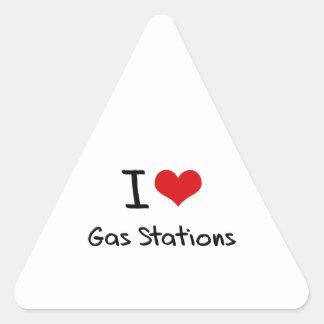 J aime des stations service autocollant