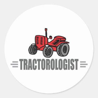 J aime des tracteurs autocollant rond
