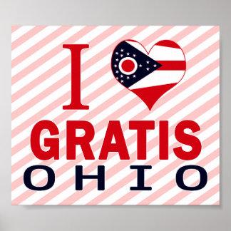 J aime gratuitement l Ohio Posters