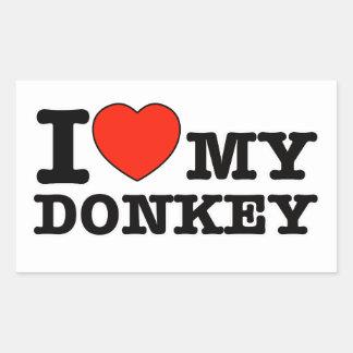 J aime l âne autocollants