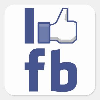 J AIME l autocollant de Facebook