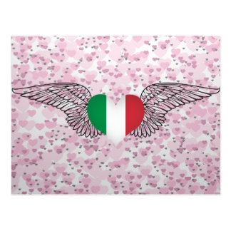 J aime l Italie - ailes Carte Postale