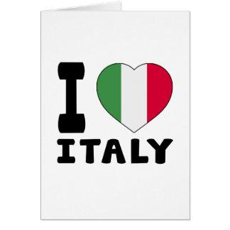 J aime l Italie Carte De Vœux