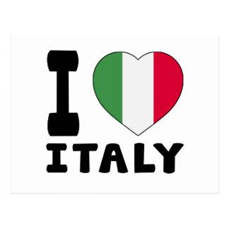 J aime l Italie Carte Postale