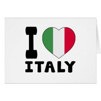 J aime l Italie Cartes De Vœux
