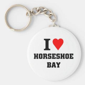 J aime la baie en fer à cheval porte-clef